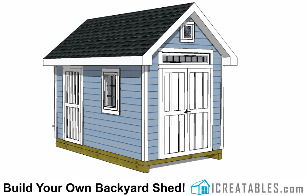 8x12 Traditional Victorian Style Storage Shed Plans