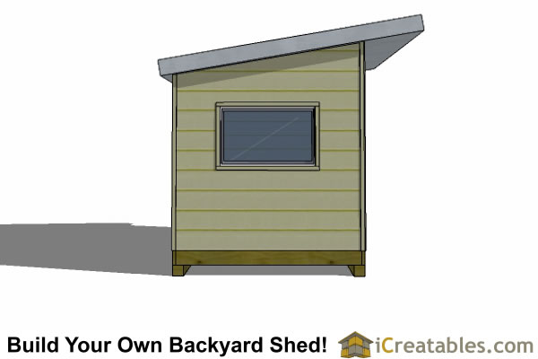 8x16 modern shed plans end elevation