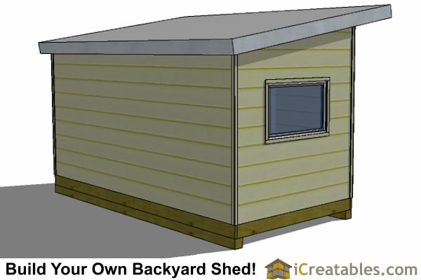 8x16 studio shed plans rear