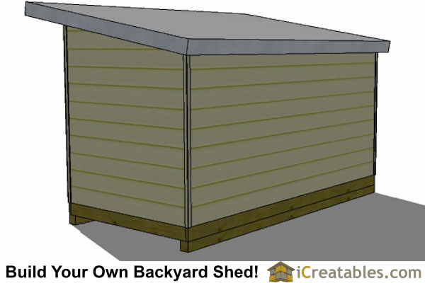 8x16 modern shed plans studio shed office shed plans for Modern office shed