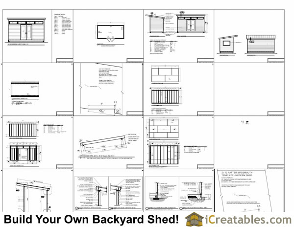 8x16 office shed plans