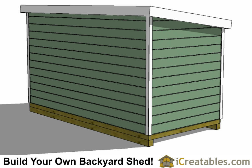 8x20 lean to shed rear view
