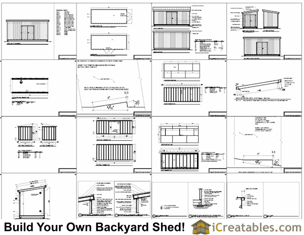 8x20 Lean To Shed Plans Storage Shed Plans Icreatables Com