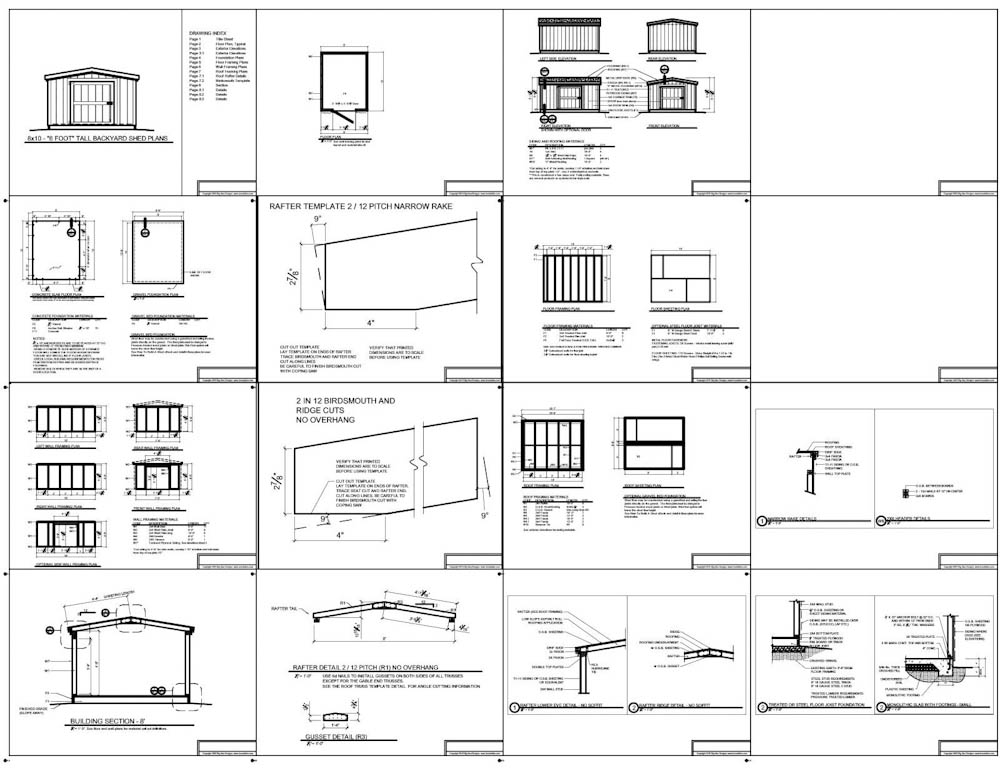 8x8 short backyard homeowner association Shed With 8 Foot Walls Plans Example