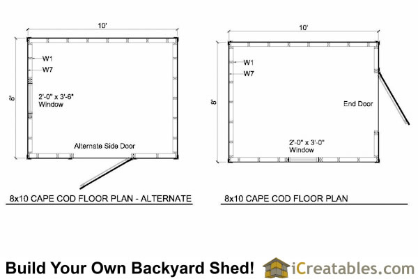 Easy to roof pitch for 8x10 shed danny plan for Simple cape cod floor plans