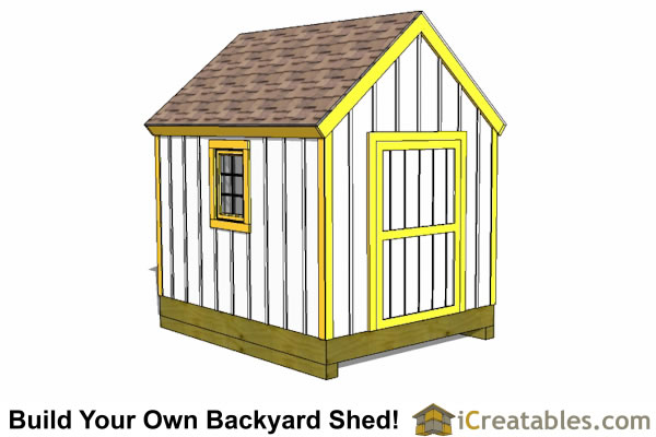 8x10 garden shed plans