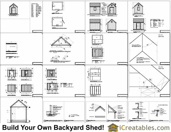 8x10 cape cod shed plans example