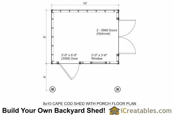 10x12 shed plans with porch cape cod shed new england for 10 x 8 shed floor plans
