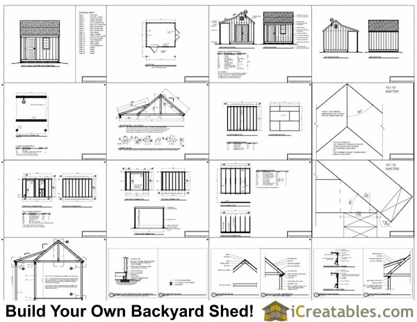 10x12 shed plans with porch cape cod shed new england for Shed plans and material list