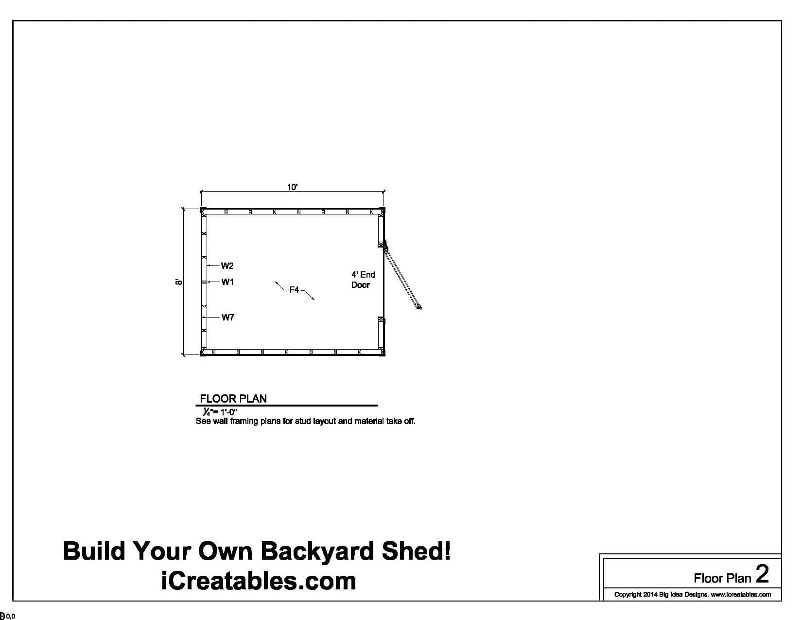 Kelana shed 8 x 12 plans free for 10 x 8 shed floor plans