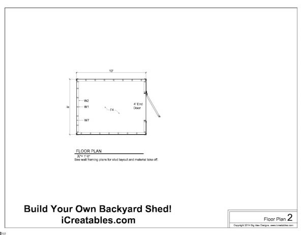 Free 8x10 Shed Plans Floor Plan