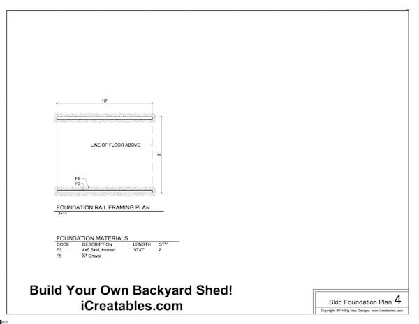 Free 8x10 Shed Plans Foundation Plan