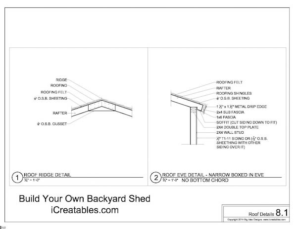 Free 8x10 Shed Plans Roof connection details