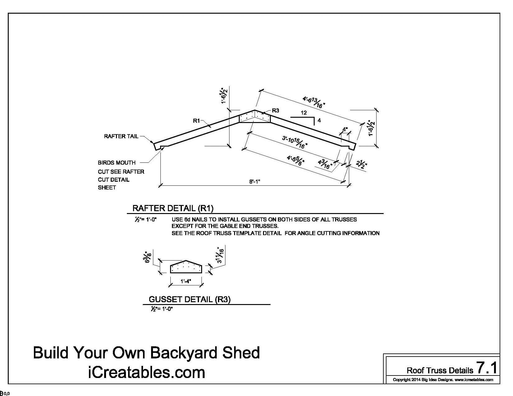 easy to roof pitch for 8x10 shed danny plan