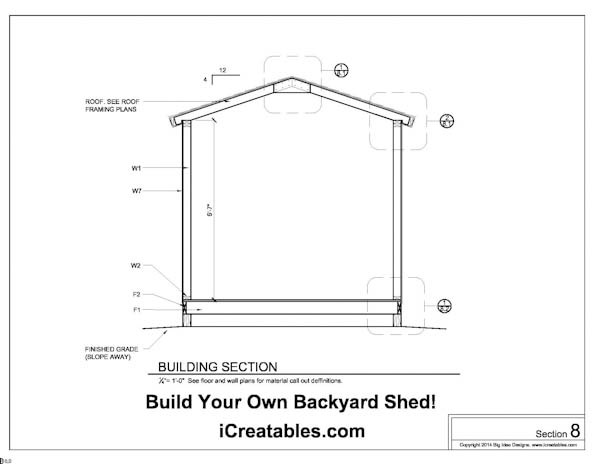 Free 8x10 Shed Plans Building Section