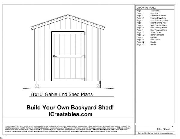 8X10 Storage Shed Plans Free