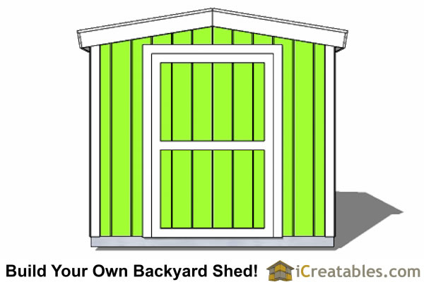 8x10 8 foot tall shed plans front