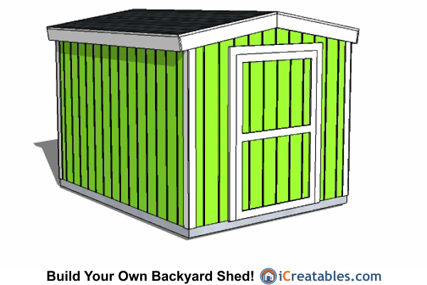 8x12 Short Shed Plans | iCreatables.com