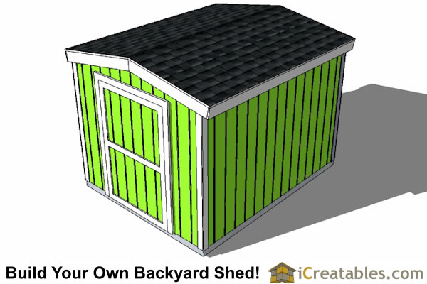 8x10 8 foot tall shed plans top