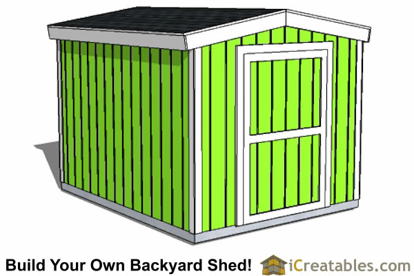 8x10 Shed Plans - DIY Storage Shed Plans - Building a Shed