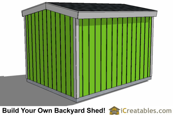 8x10 8 foot tall shed plans side door rear