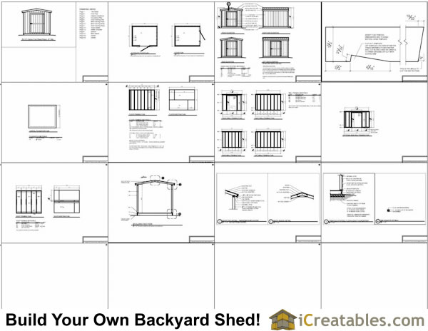 8x10 short shed plans for Free shed design software with materials list