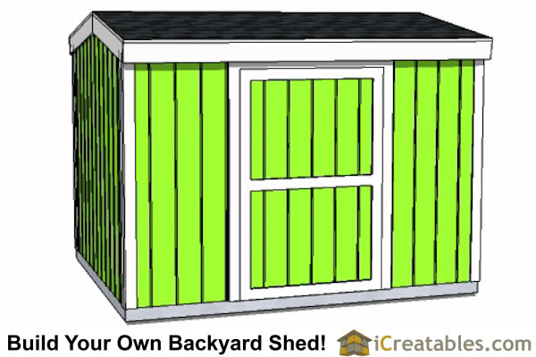 8x10 8 foot tall shed plans side door