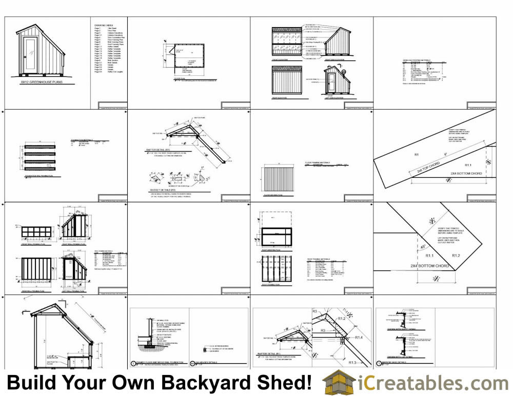 Wood greenhouse plans 10x12 greenhouse shed plans for Shed plans and material list