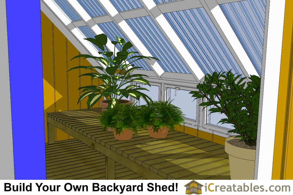 8x10 greenhouse shed plans inside