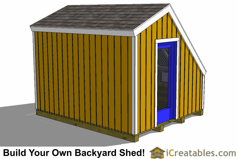 8x10 greenhouse shed plans rear