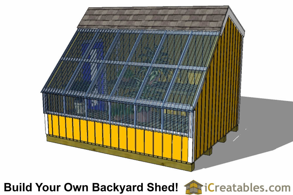 8x10 greenhouse shed plans