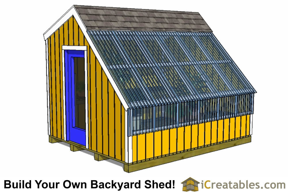 10x12 greenhouse shed plans