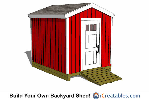 8x10 gable shed tall