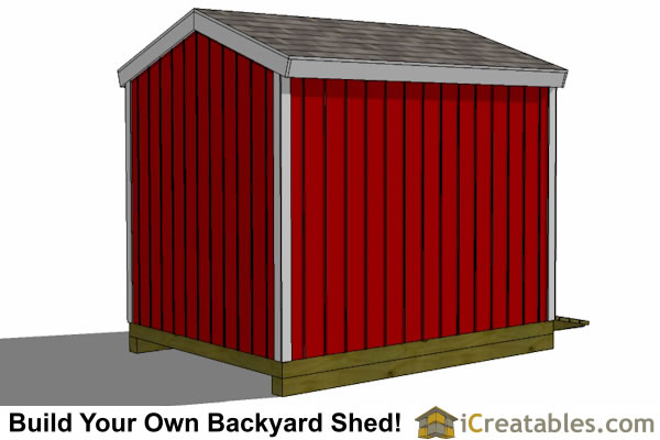 8x10 shed plans left side