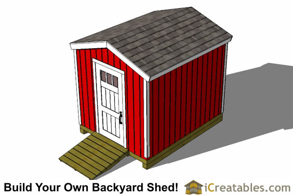 8x10 shed plans rear