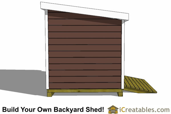8x10 lean to shed left
