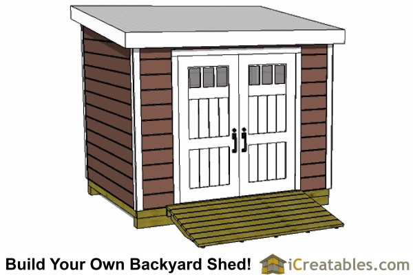 4x10 lean to shed with window  plans