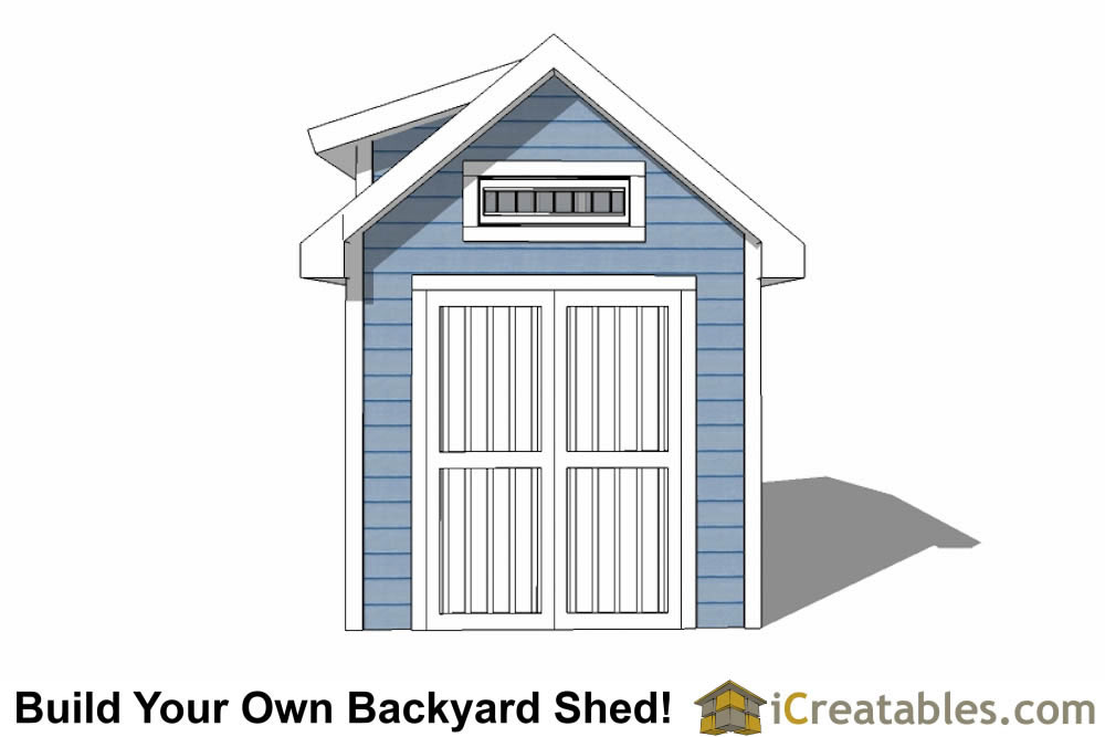 8x10 Shed Plans With Dormer Icreatables Com