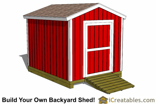 8x10 shed plans gable shed