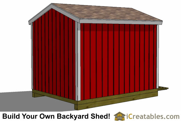 8x10 shed plans front