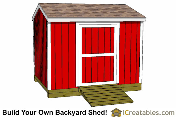8x10 shed plans side door