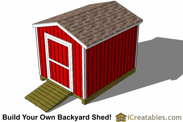 8x10 shed plans top view