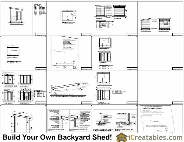 8x10 shed plans modern shed plans studio shed plans for Studio shed plans