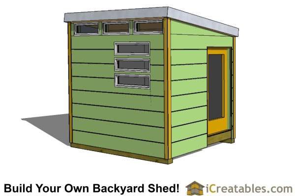 8x10 Shed Plans Modern Shed Plans Studio Shed Plans