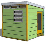 8x10 modern shed plans