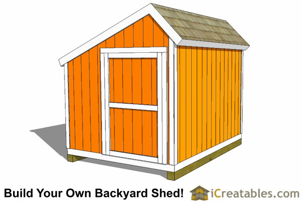 10x10 salt box shed with end door