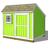 8x10 saltbox shed plans door and window on front