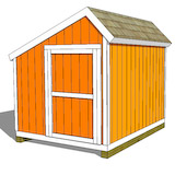 8x10 salt box shed plans door on end