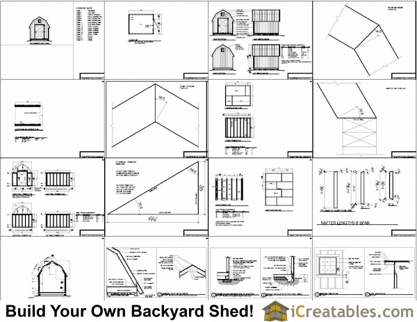 8x8 Gable Shed Plans Example