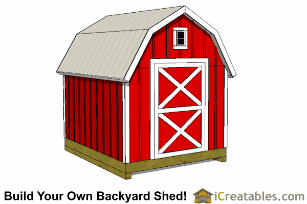 8x10 gambrel shed barn